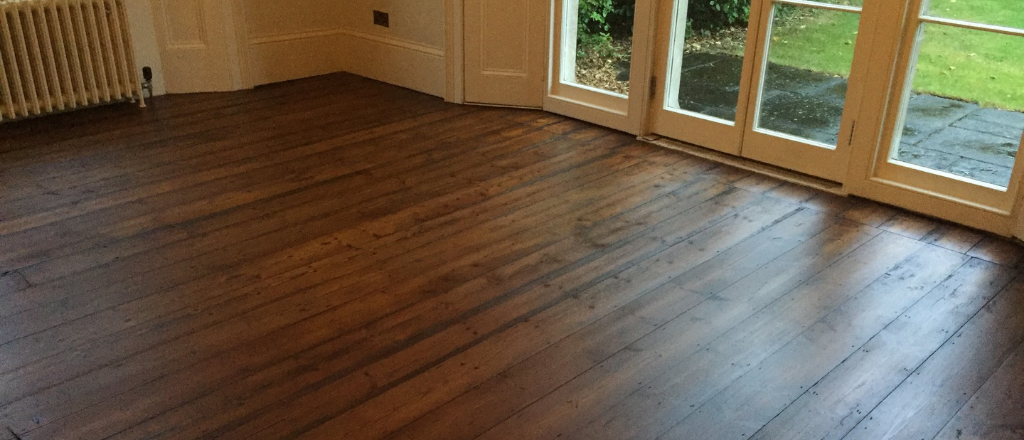 Floorboard sanding and staining - Bournemouth