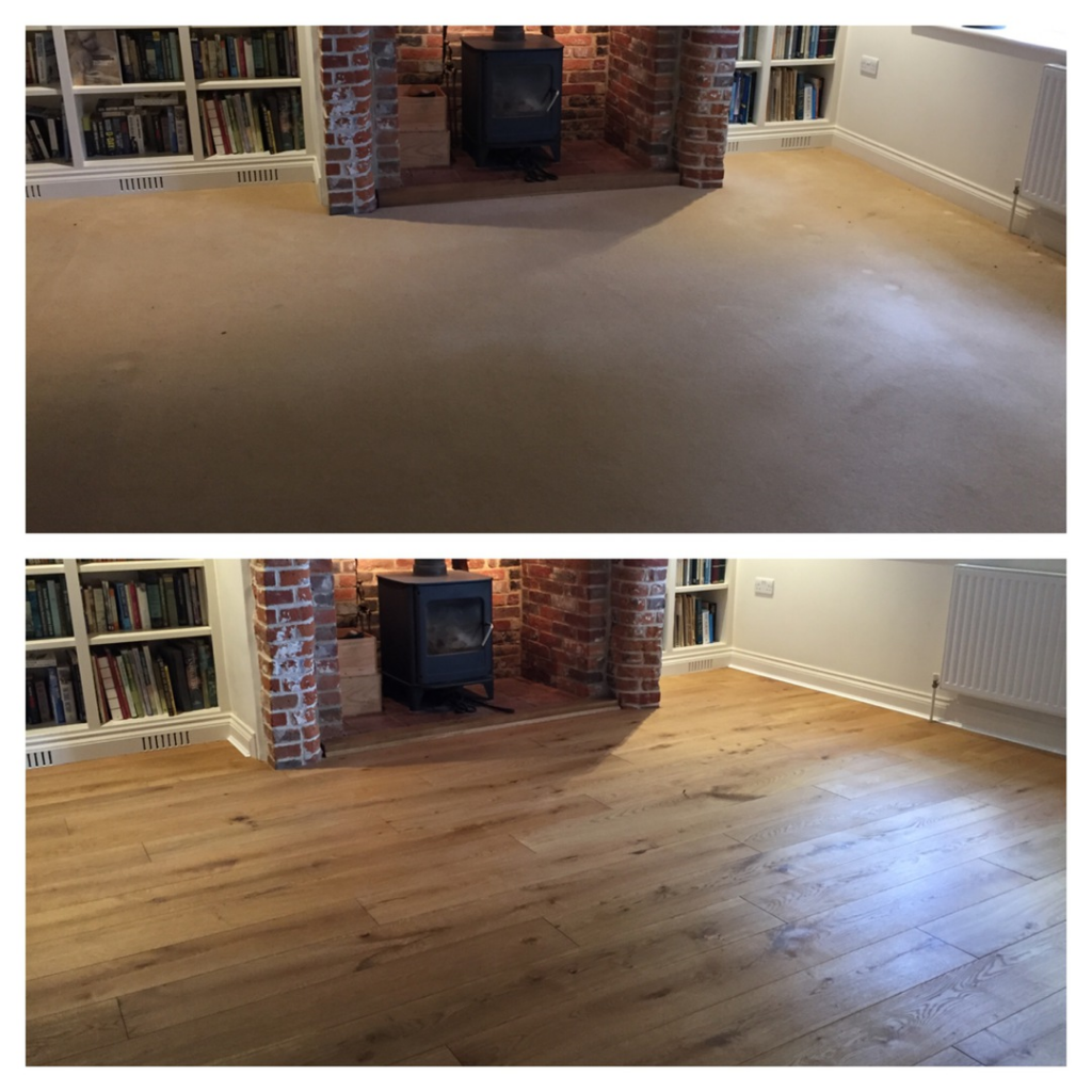 Enginnered oak wood flooring installed in poole Dorset